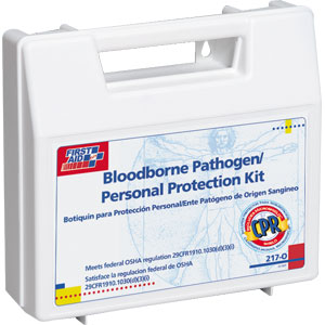 25-Piece Personal Bloodborne Pathogen Kit w/CPR Shield