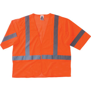 GloWear Economy Vest, Orange, L/XL