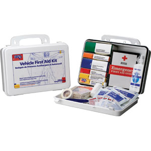 93-Piece Vehicle First Aid Kit w/Gasket (Plastic)