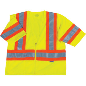 GloWear 8330Z Two-Tone Vest, Lime, L/XL