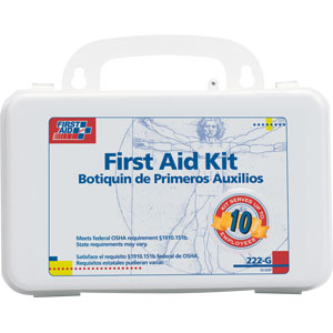 10-Person First Aid Kits w/Gasket (Plastic)