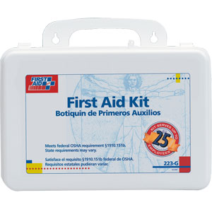 25-Person First Aid Kit w/Gasket (Plastic)