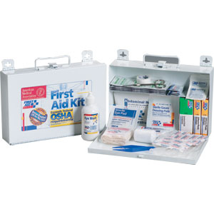 25-Person First Aid Kit w/CPR Shield (Metal)