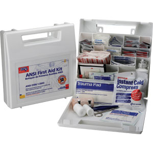 50-Person ANSI First Aid Kit w/Dividers (Plastic)