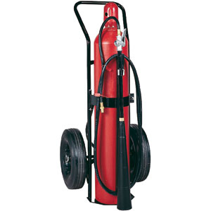 Badger 50 lb CO2 Wheeled Self-Expelling Fire Extinguisher