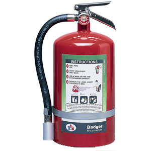 Badger Extra 15 1/2 lb Halotron I Fire Extinguisher w/ Wall Hook