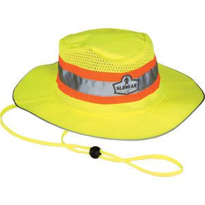 GloWear Hi-Vis Ranger Hat, Lime, L/XL