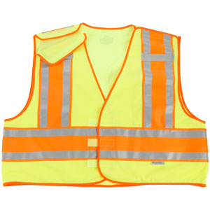 GloWear Public Safety Vest, Lime, 4XL/5XL