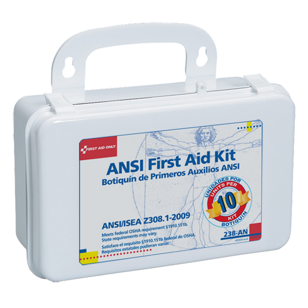 10-Unit ANSI First Aid Kit w/ Gasket (Plastic)