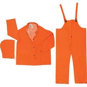 Classic Plus .35mm, 3 Pc PVC/Poly Suit, Orange