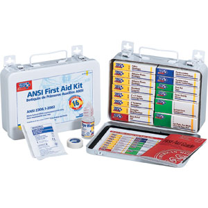 16-Unit ANSI First Aid Kit w/Gasket (Metal)