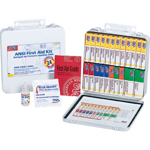 24-Unit ANSI First Aid Kit w/Gasket (Metal)