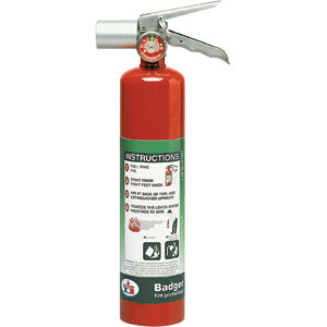 Badger Extra 2 1/2 lb Halotron I Fire Extinguisher w/ Vehicle Bracket