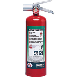 Badger Extra 5 lb Halotron I Fire Extinguisher w/ Wall Hook