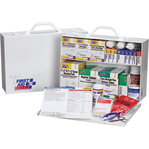 2-Shelf First Aid Cabinet, 75-Person, 515-Piece