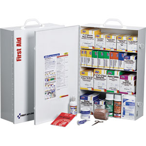 4-Shelf First Aid Cabinet, 150-Person, 1,059-Piece