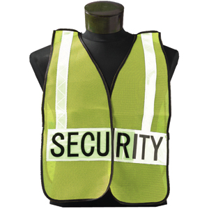 SECURITY Lime w/White Specialty Safety Vest