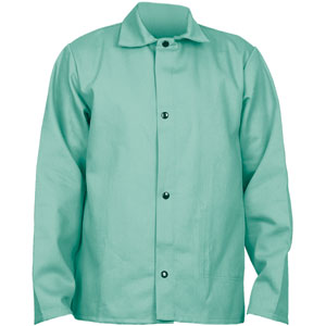 Welding Jacket, 30&#34, Green, 3XL