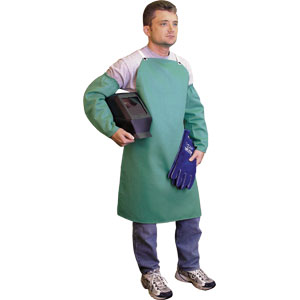 Welding Sleeve, Green, Snap Wrist, 18&#34