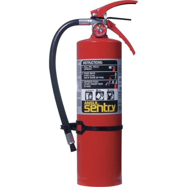 Ansul Sentry 5 lb ABC Fire Extinguisher w/ Wall Hook