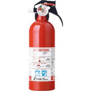 Kidde 2 lb Automotive BC Fire Extinguisher w/ Nylon Strap Bracket (Disposable)