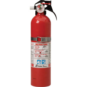 Kidde Automotive 2 3/4 lb BC Fire Extinguisher w/ Steel Strap Bracket (Disposable)