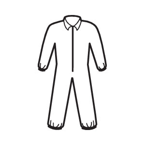 Zipper Front, Elastic Wrists & Ankles A40 Coveralls, XL, 25/Case
