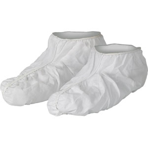 KleenGuard A40 Liquid and Particle Protection White Shoe Covers