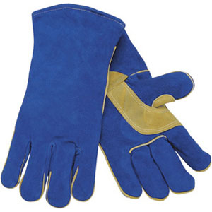 Blue Select Shoulder Leather Welders Sewn w/Kevlar