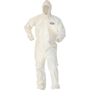 (12)COVERALL A80 WH L ZIP FRNT ELASTIC WR/AN HD TAPED SEAMS