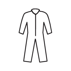 Zipper Front, Elastic Back A30 Coveralls, XL, 25/Case
