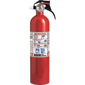 Kidde 2 3/4 lb BC Fire Extinguisher w/ Nylon Strap Bracket (Disposable)