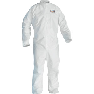 White, Zipper Front, Elastic Back, Wrists & Ankles A20 Coveralls, 2XL, 24/Case