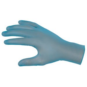 SensaGuard Blue Powdered Vinyl, Disposable Gloves
