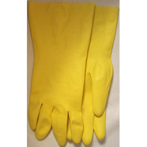 Yellow, Flocked Latex, 15 Mil, Bulk Packed, XL