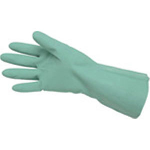 Green Unlined Nitrile, 15 Mil, Straight Cuff, Size 9.5