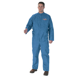 Denim Blue, Zipper Front A20 Coveralls, L, 24/Case