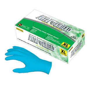 Nitrishield Powder-Free, 8 mil Disposable Nitrile Gloves