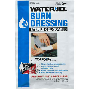 "Water-Jel 4"" x 4"" Burn Dressings"