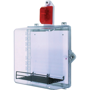 STI AED Protective Cabinet w/Clear Thumb Lock