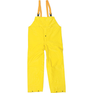 Concord Yellow Bib Pants w/Snap Fly Front and Elastic Suspenders
