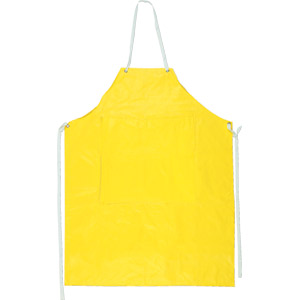 .35mm Yellow Neoprene/Nylon Apron w/Sewn Edge, 45&#34 x 35&#34