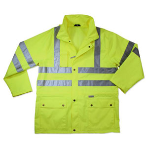 GloWear 8365 Rain Jacket, Lime, L