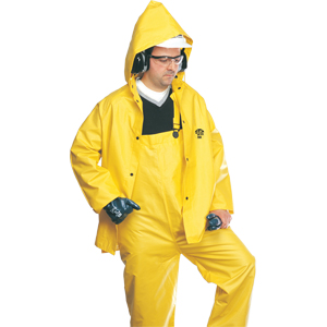 3-Piece Flame Retardant Rainsuit, Large