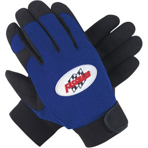 Clarino Synthetic Leather Palm, Blue/Black, L
