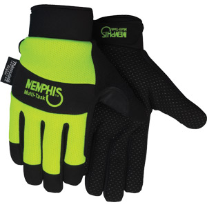 (PR)GLOVE MULTITASK HIVIS LIME W/DOTTED PALM XL INSULATED