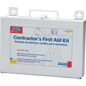 25-Person Contractor First Aid Kit, (Metal)