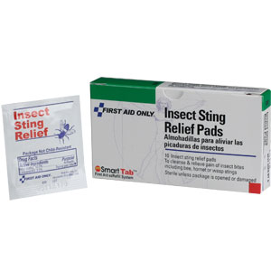 Insect Sting Relief Pads, 10/Box