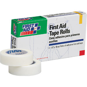 "First Aid Tape, 1/2"" x 10 yds, 2 Rolls/Box"