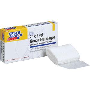 """2"""" x 6 yd Gauze Bandages, 2/Box"""